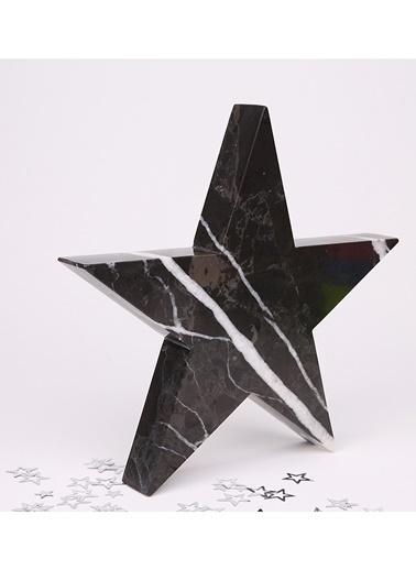 3Wdesign Yıldız Mermer Büyük Boy Obje Siyah